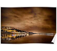 Saltburn at night Poster