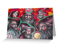 pack of neon wizards. Greeting Card