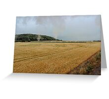 Countryside from a steam train Greeting Card