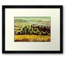 Acryl - Plein air Framed Print