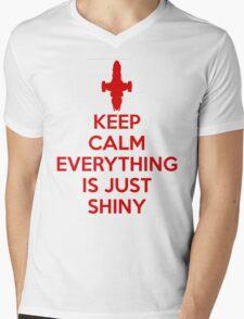 Keep Calm - Shiny Mens V-Neck T-Shirt