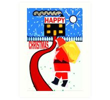 HAPPY CHRISTMAS 80 Art Print