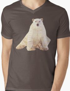 Lazy Bear Mens V-Neck T-Shirt