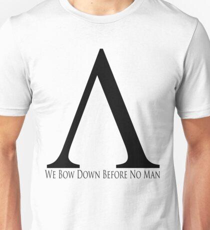 Spartan Symbol - Black Unisex T-Shirt