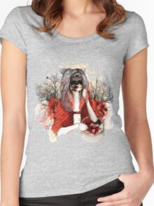 My Little Red Riding Hood.... Women's Fitted Scoop T-Shirt