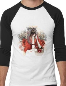 My Little Red Riding Hood.... Men's Baseball ¾ T-Shirt