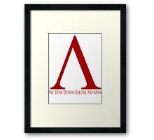 Spartan Symbol - Red Framed Print