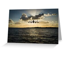 Low-flying Lancaster sunset Greeting Card