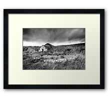 Old Boat and Ice House, Keiss Harbour, Caithness, Scotland Framed Print