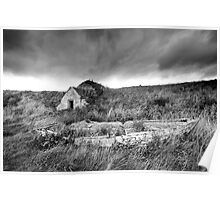 Old Boat and Ice House, Keiss Harbour, Caithness, Scotland Poster
