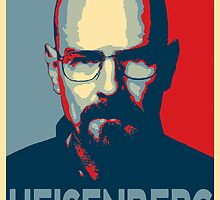 Obamized Mr Heisenberg (Light Blue) by miki1510