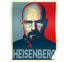 Obamized Mr Heisenberg (Light Blue) Poster
