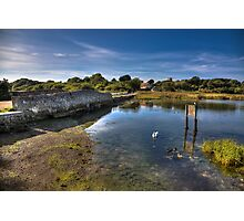 Causeway On The River Yar Photographic Print