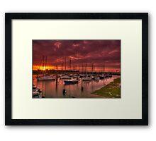 River Yar Sunset Framed Print