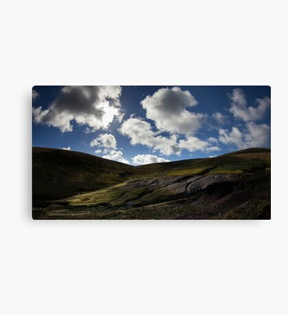 War between clouds and sun Canvas Print