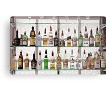 Alcohol Bar Metal Print