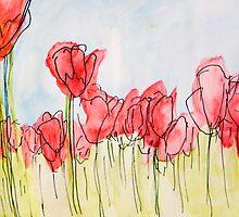 Field of tulips by CarlaHarvie