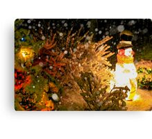 Frosty in a Snowstorm Canvas Print