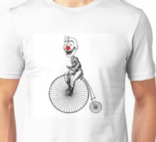 clown on a bike Unisex T-Shirt