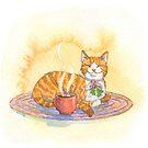 Cozy Cocoa Cat by Laurel Varian