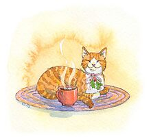 Cozy Cocoa Cat Photographic Print