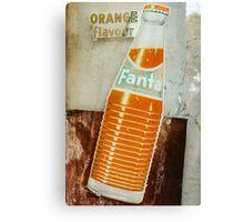 Vintage Retro Fanta Ad Canvas Print