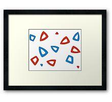 Togepi pattern Framed Print