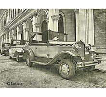 Classic old cars  Photographic Print