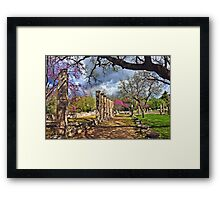 Springtime in Ancient Olympia Framed Print