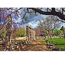 Springtime in Ancient Olympia Photographic Print