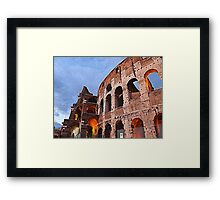 Detail of the Colosseum at sunset n°2 Framed Print