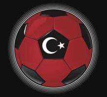 Turkey - Turkish Flag - Football or Soccer by graphix