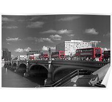 London Buses - Selective Colour Poster