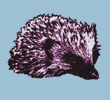 Purple Hedgehog One Piece - Short Sleeve