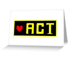 ACT Greeting Card