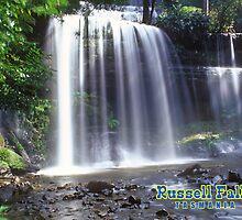 Russell Falls Tasmania Australia by leksele