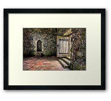 The Door to Rodel Church Framed Print