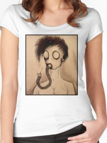 gas mask girl Women's Fitted Scoop T-Shirt