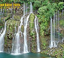 Grand Galet Falls  Reunion island by leksele