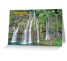 Grand Galet Falls  Reunion island Greeting Card