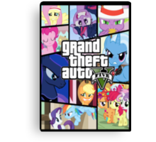 GTA V: Pony edition Canvas Print