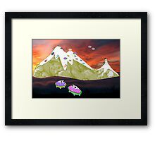 Would You Believe it took Thousands of Years for Us to Evolve into Flying Saucer frogs? Framed Print