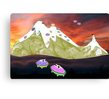 Would You Believe it took Thousands of Years for Us to Evolve into Flying Saucer frogs? Canvas Print