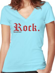 Rock. Women's Fitted V-Neck T-Shirt