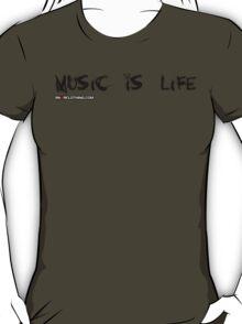 Music Is My Life Skull T-Shirt