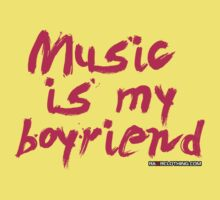 Music Is My Boyfriend Kids Tee