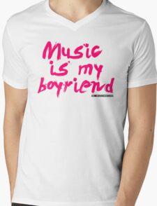 Music Is My Boyfriend Mens V-Neck T-Shirt