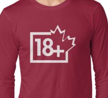 TV 18+ (Canada) white Long Sleeve T-Shirt