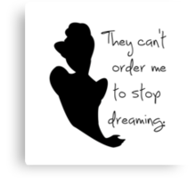 Disney Princesses: Cinderella *Black Version* Canvas Print