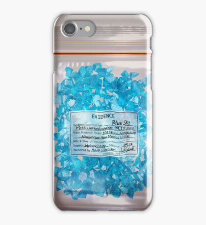 W.W. Blue Sky meth. (DEA Evidence) iPhone Case/Skin